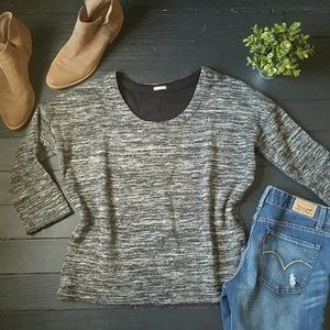 J.crew Thick grey and white Sweater